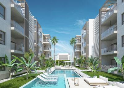 beach-garden-residences-condos-for-sale-punta-cana-zonas-comunes-exterior